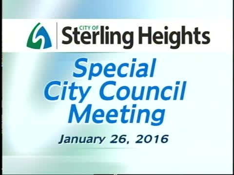 Special City Council Meeting: 1/26/16