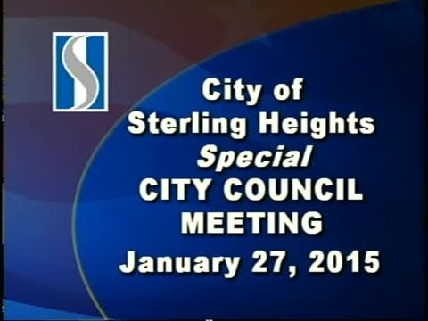 Special City Council Meeting: 1/27/15