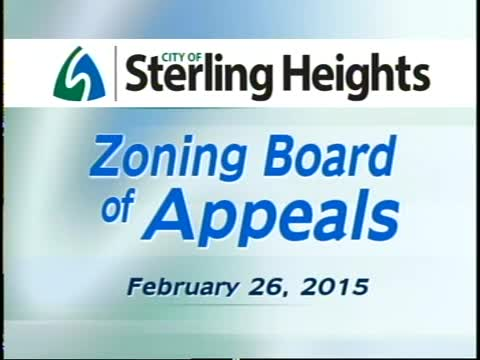 Zoning Board of Appeals Meeting: 2/26/15
