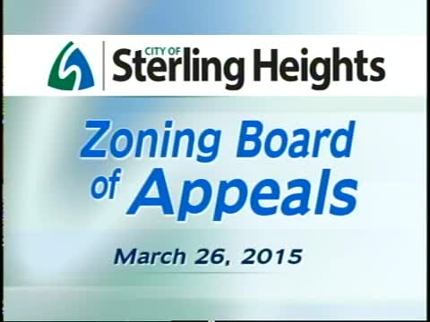 Zoning Board of Appeals Meeting: 3/26/15