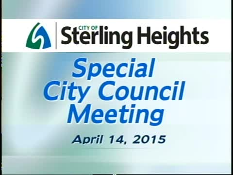 Special City Council Meeting: 4/14/15