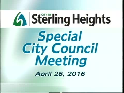 Special City Council Meeting: 4/26/16