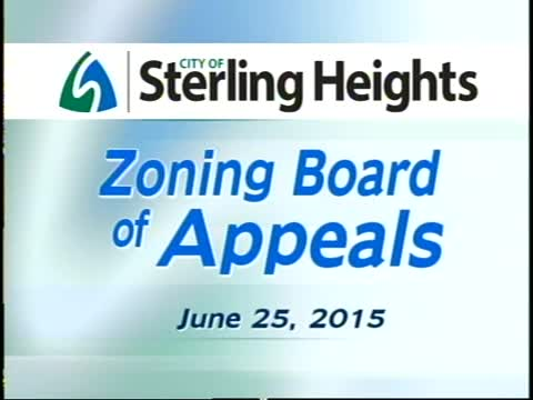 Zoning Board of Appeals Meeting: 6/25/15