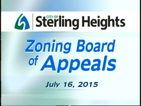 Zoning Board of Appeals Meeting: 7/16/15