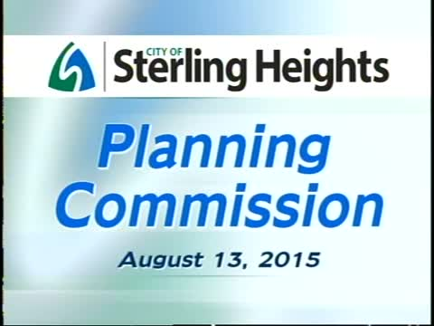 Planning Commission Meeting: 8-13-15