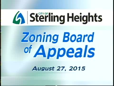 Zoning Board of Appeals Meeting: 8/27/15