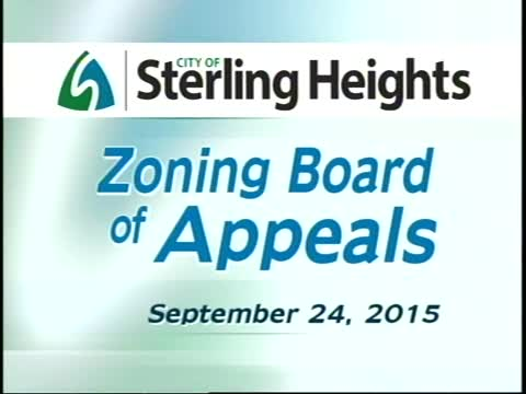 Zoning Board of Appeals Meeting: 9/24/15