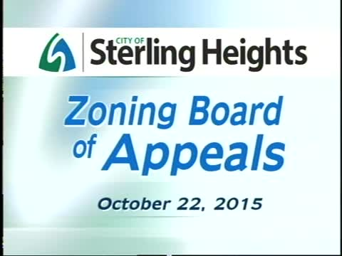 Zoning Board of Appeals Meeting: 10/22/15